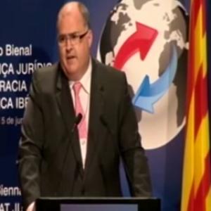 Acto de clausura del I Congreso bienal sobre seguridad jurídica y democracia en Iberoamérica (05 de junio de 2013)