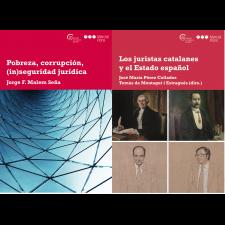 Incorporem dos nous volums a la col·lecció de la Càtedra de Cultura Jurídica