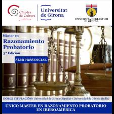 IV edició del Màster en Raonament Probatori: oberta la preinscripció