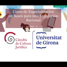 II edición del curso on-line BASES PARA UNA LEGISLACIÓN RACIONAL
