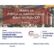 Nuevo máster semipresencial: Política en América Latina: retos del s. XXI